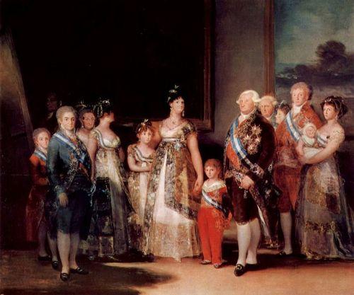La familia de Carlos IV. En la actualidad ser fotográfo oficial del regimen no reporta tantas satisfacciones.