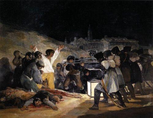 El tres de mayo. Toda la crudeza de una guerra y ciertos elementos que definieron a la pintura romántica por venir.